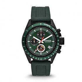 Decker Chronograph Silicone Watch - Green