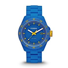 Decker Three Hand Silicone Watch - Blue