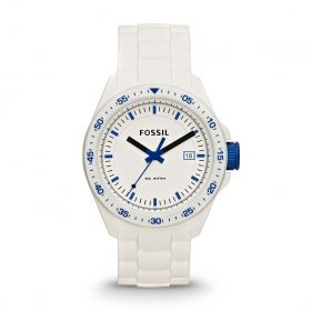 Decker Three Hand Silicone Watch - White