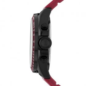 Decker Chronograph Silicone Watch - Burgundy